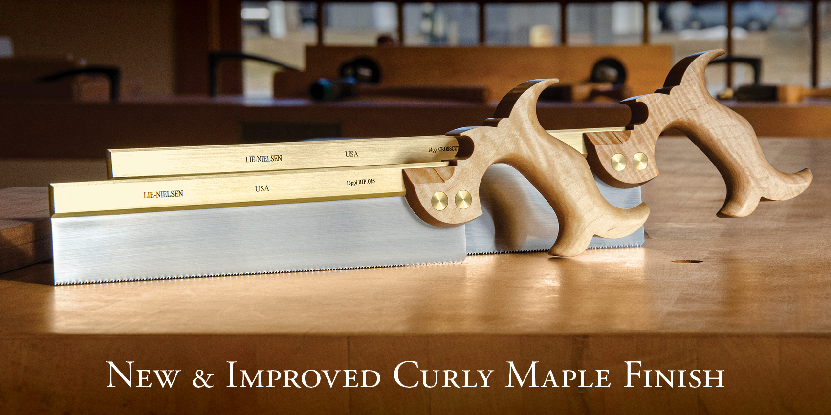 Our Curly Maple handles will soon have a new, improved finish