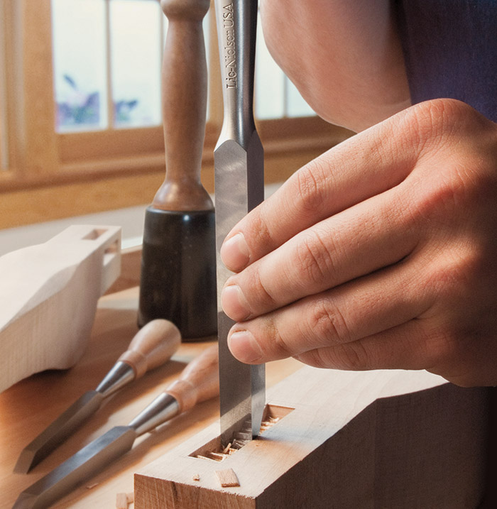 Mortise Chisel in-use
